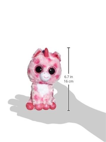 Carletto Ty 36175 - Sugar Pie - Einhorn pink, 15 cm, mit Glitzeraugen, Glubschi's, Beanie Boo's, Valentin limitiert - 2