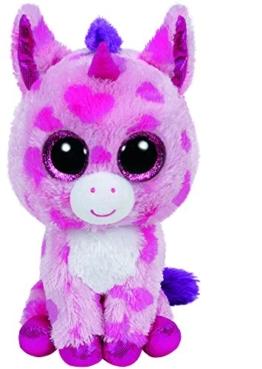 Carletto Ty 36175 - Sugar Pie - Einhorn pink, 15 cm, mit Glitzeraugen, Glubschi's, Beanie Boo's, Valentin limitiert - 1