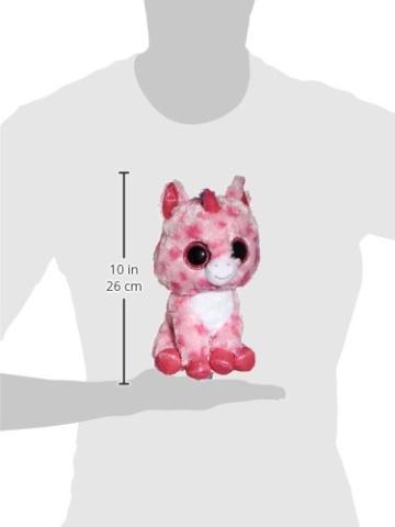 Carletto Ty 37050 - Sugar Pie - Einhorn pink, Large 24 cm, mit Glitzeraugen, Glubschi's, Beanie Boo's, Valentin limitiert - 2