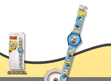 MINIONS: Einhorn Agnes 30cm Minion Plüsch + Kinder-Analog-Uhr MINIONS. - 3