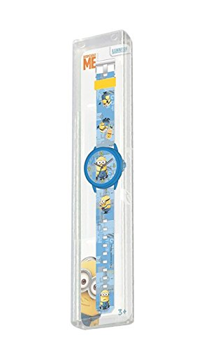 MINIONS: Einhorn Agnes 30cm Minion Plüsch + Kinder-Analog-Uhr MINIONS. - 4