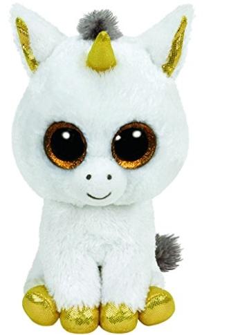 TY Glubschis - Pegasus Einhorn, weiß/gold - Beanie Boos - 15 cm - 1