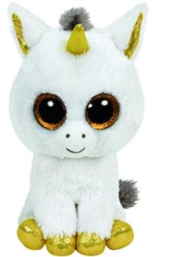 Ty Glubschis - Pegasus Einhorn, weiß/gold - Beanie Boos - 24 cm - 1