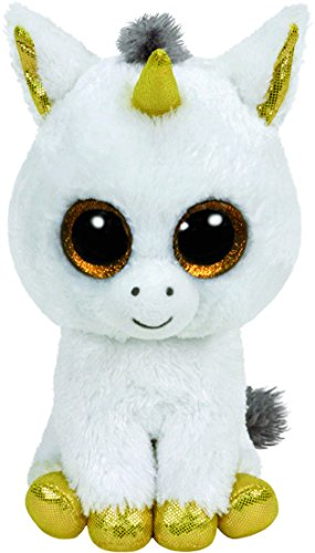 ty Glubschis - Pegasus Einhorn, weiß/gold - Beanie Boos - 42 cm - 1