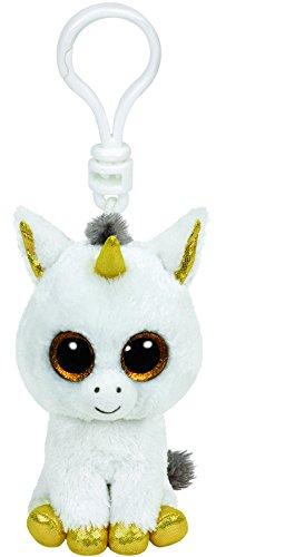TY Glubschis - Pegasus Einhorn, weiß/gold - Beanie Boos - Schlüsselanhänger - 8,5 cm - 1