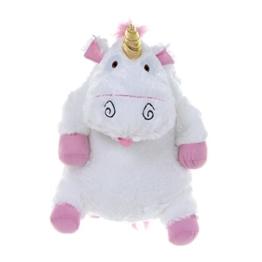 Despicable Me Fluffy Unicorn Plush Backpack Kinder-Rucksack, 42 cm, Weiß (White) - 1