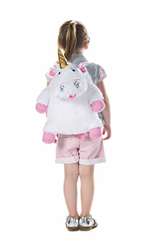 Despicable Me Fluffy Unicorn Plush Backpack Kinder-Rucksack, 42 cm, Weiß (White) - 2