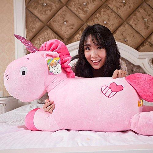 Misslight Einhorn Plüschtiere Schlaf Stuffed weichem Plüsch Kissen für Baby Kind (Pink) - 2
