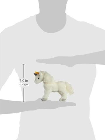 Steiff 015106 - Starly Einhorn 16 stehende Plüsch, weiß - 2