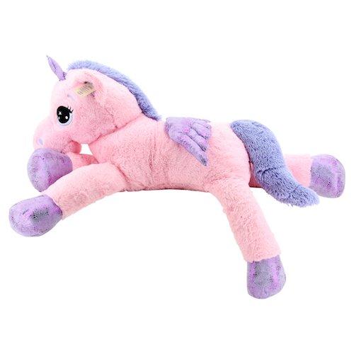 Sweety Toys 8049 XXL Einhorn Pegasus Plüschtier Kuscheltier 130 cm rosa - 2