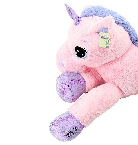 Sweety Toys 8049 XXL Einhorn Pegasus Plüschtier Kuscheltier 130 cm rosa - 3