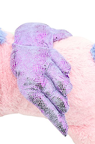 Sweety Toys 8049 XXL Einhorn Pegasus Plüschtier Kuscheltier 130 cm rosa - 4