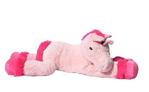 XXL Einhorn Plüschtier ca. 110 cm große Kuscheltier rosa pink Stofftier - 2
