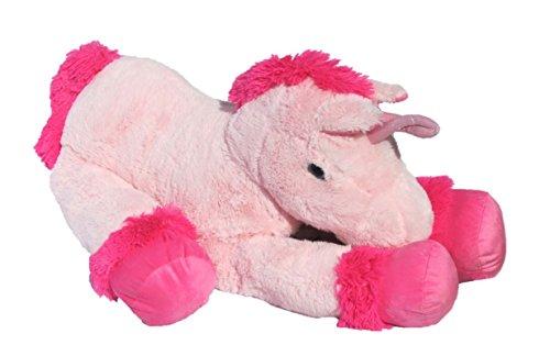 XXL Einhorn Plüschtier ca. 110 cm große Kuscheltier rosa pink Stofftier - 3