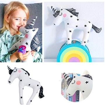 Yezelend Einhorn Plüschtiere Weiches Kissen Baby Stofftier Spielzeug Stoffspielzeug - 2