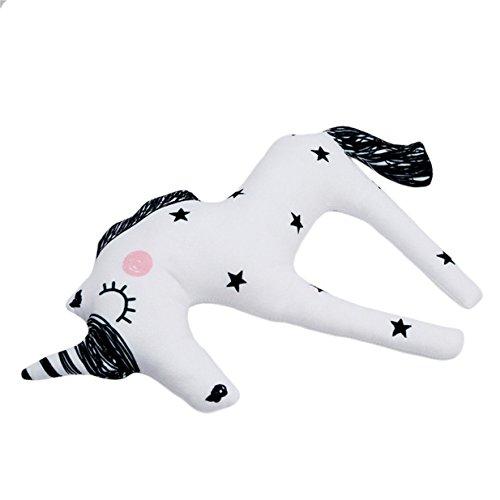 Yezelend Einhorn Plüschtiere Weiches Kissen Baby Stofftier Spielzeug Stoffspielzeug - 4